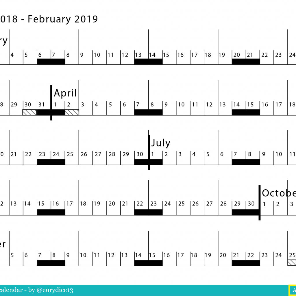 Calendar 2019 Entire Year With Linear Jan 2018 Feb Sophia User Experience UX