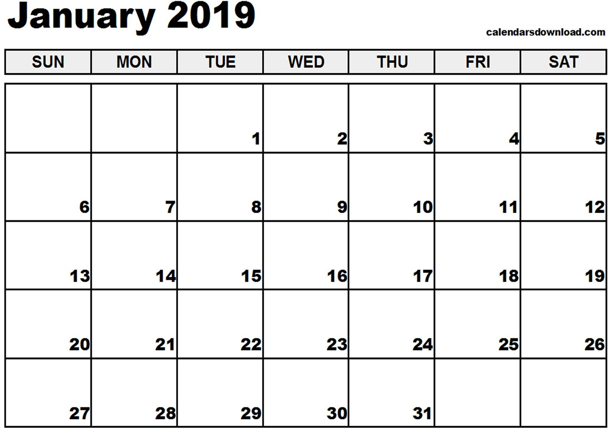 Calendar 2019 Entire Year With The Ideal Example Of Any Custom Printable Story