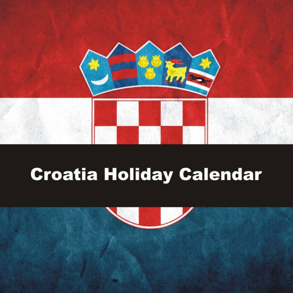 Calendar For Year 2019 Croatia With 2018 Holiday
