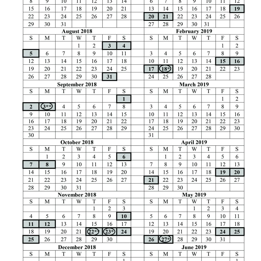 Calendar For Year 2019 Croatia With July 1 2018 June 30 Holiday Local 393
