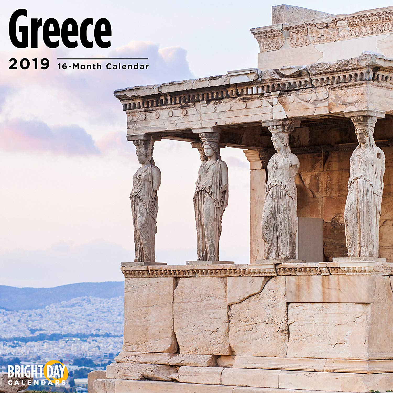 Calendar For Year 2019 Greece With Amazon Com 16 Month Wall 12 X Inches