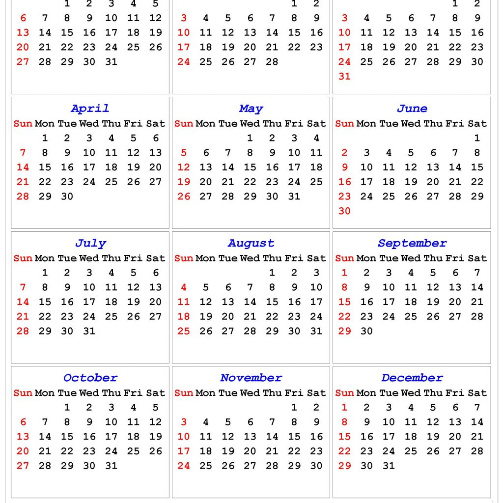 Calendar For Year 2019 India With Printable In Multiple Colors