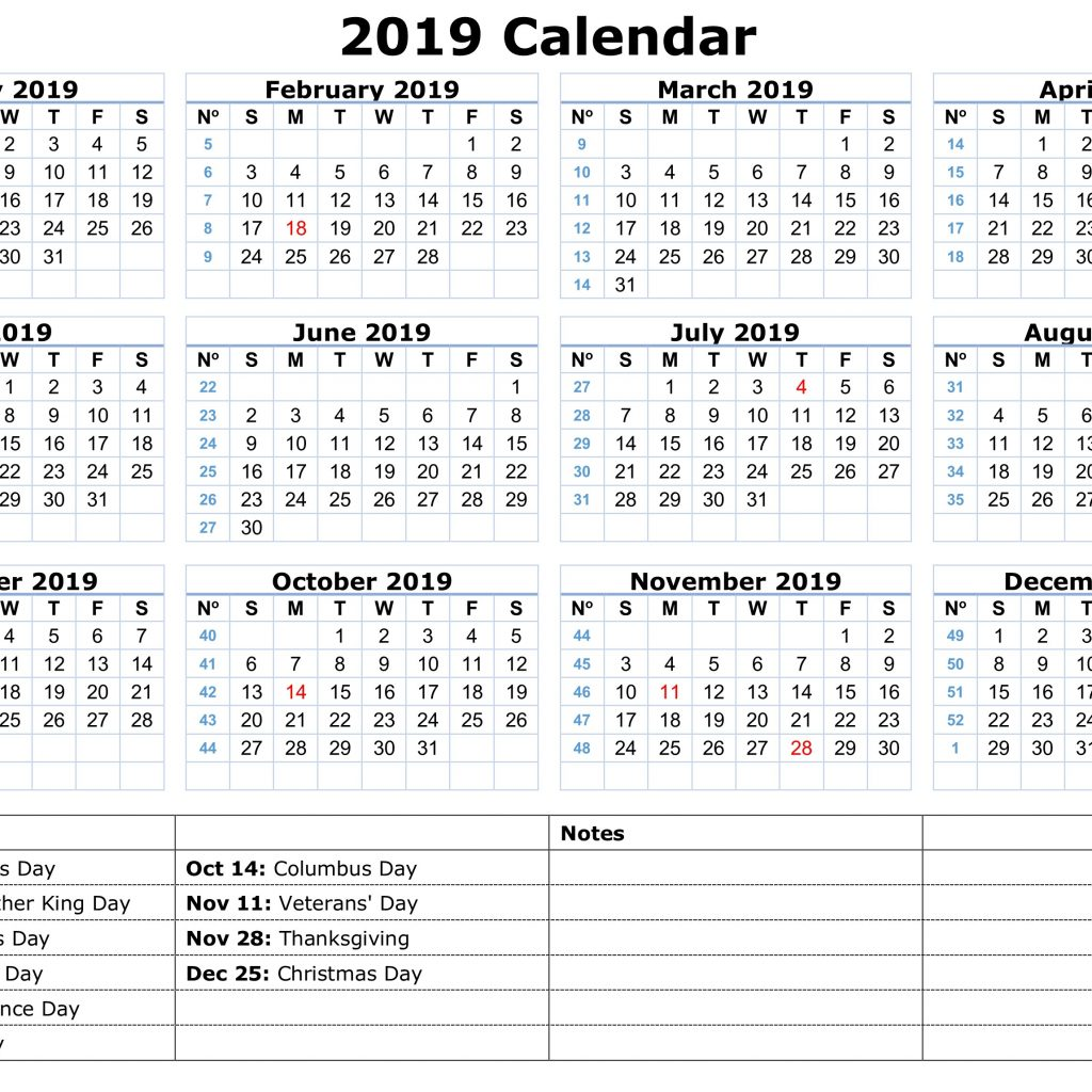 Calendar For Year 2019 India With Public Holidays Yearly