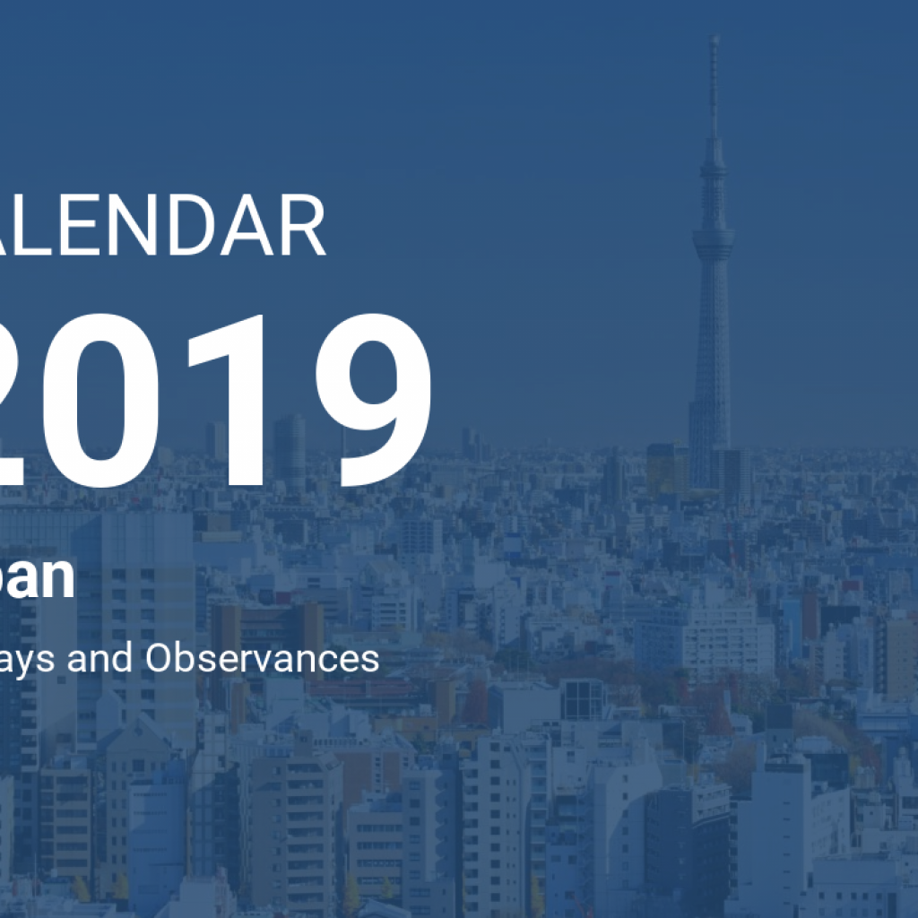 Calendar For Year 2019 Japan With