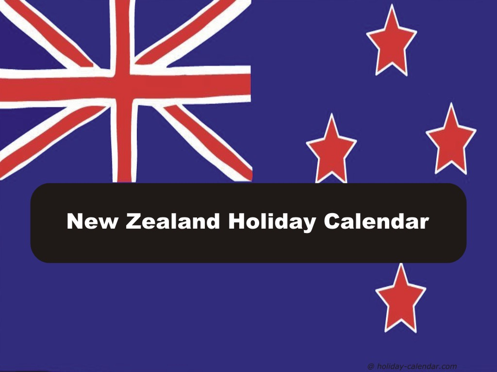 Calendar For Year 2019 New Zealand With 2018 Holiday