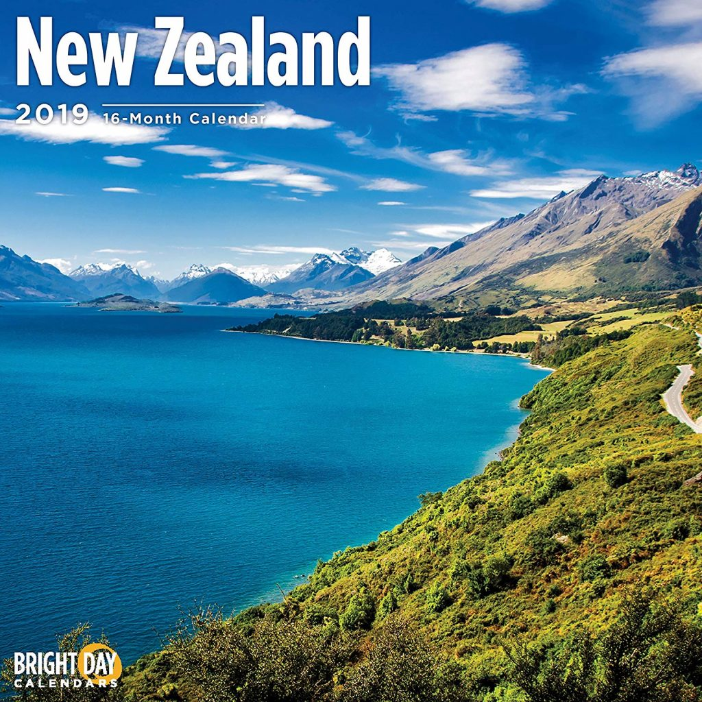 Calendar For Year 2019 New Zealand With Amazon Com 16 Month Wall 12 X Inches