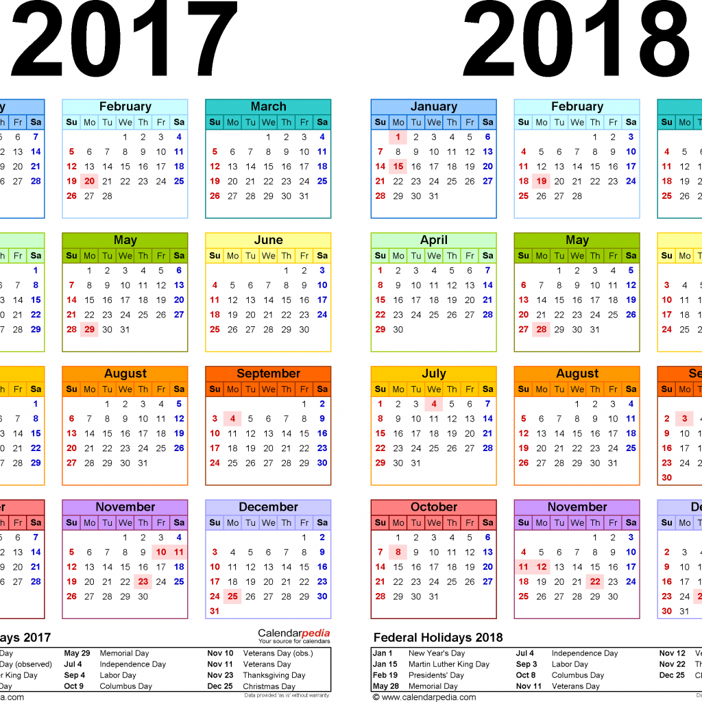 Calendar For Year 2019 Qatar With 2017 2018 Free Printable Two Excel Calendars
