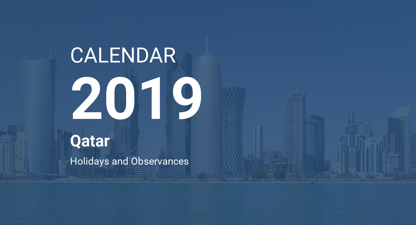 Calendar For Year 2019 Qatar With