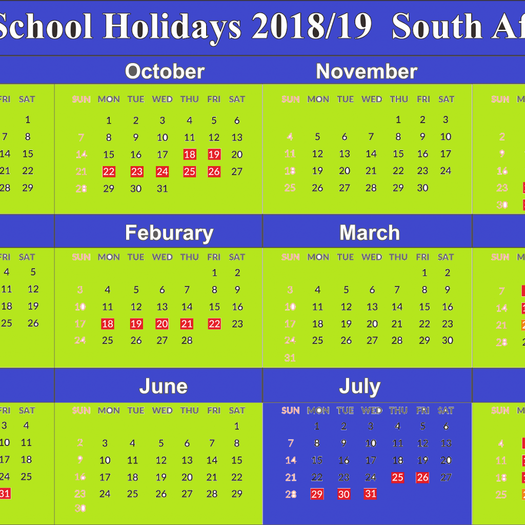 Calendar For Year 2019 Saudi Arabia With Free Download School Holidays Yearly SA