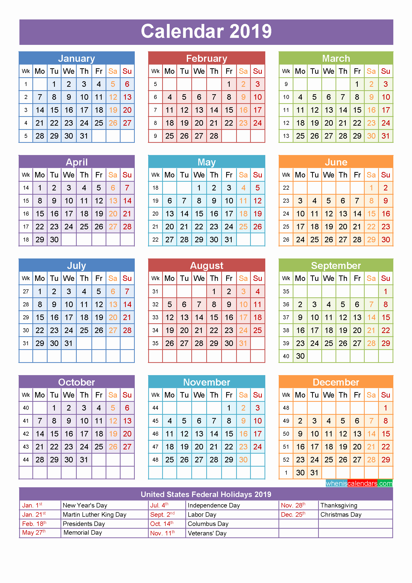Calendar For Year 2019 Uae With Get Public Holidays Calender USA UK UAE Malaysia SA