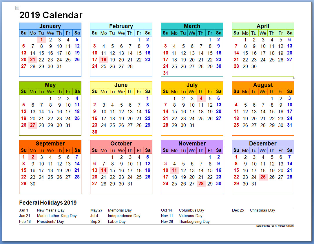 Calendar For Year 2019 Uae With Printable UAE Holidays December 2018