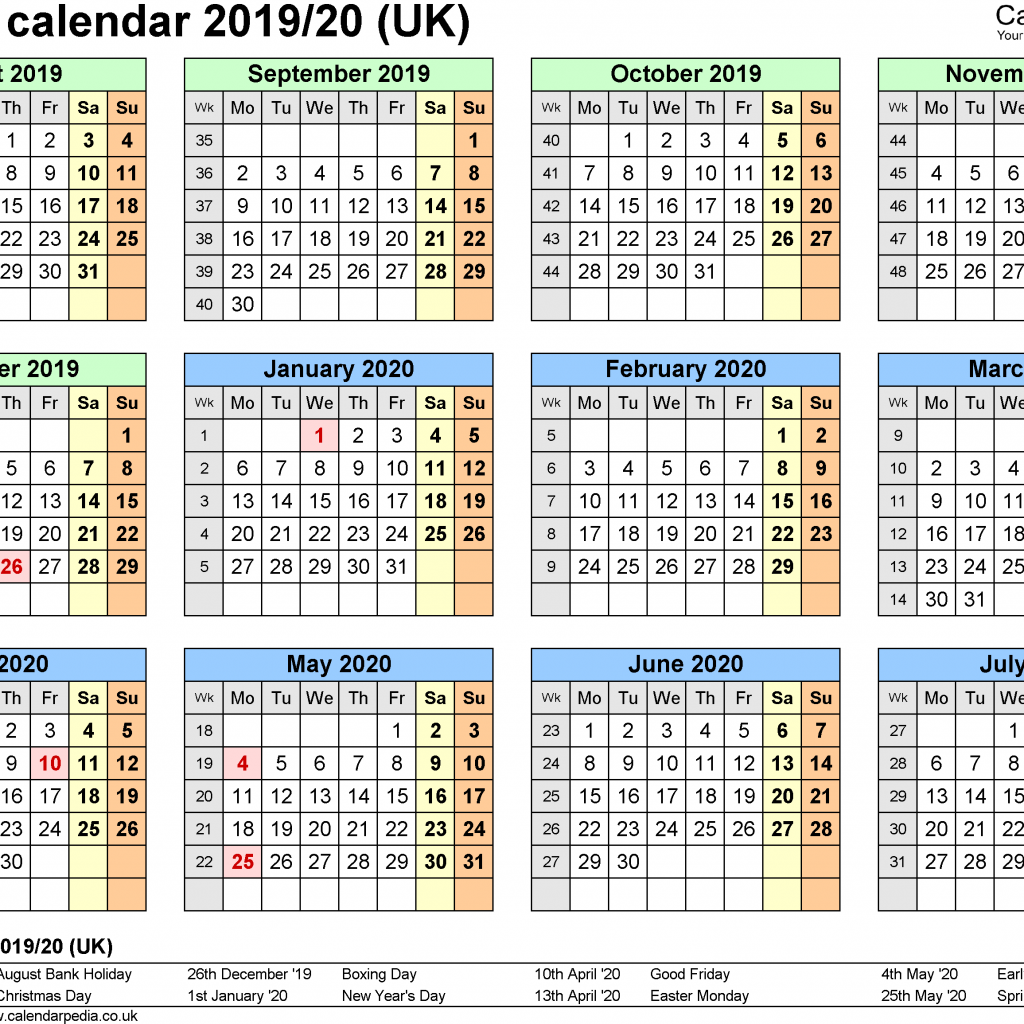 Calendar For Year 2019 United Kingdom With School Holiday UK And Dates Public Holidays