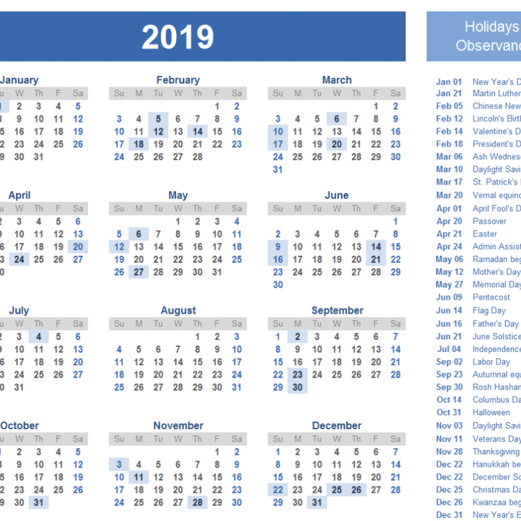 Calendar For Year 2019 United Kingdom With Yearly Editable Bank Holidays UK Template December