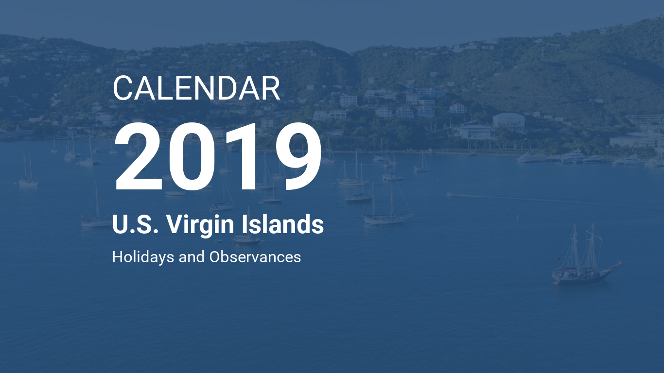 Calendar For Year 2019 Us With U S Virgin Islands