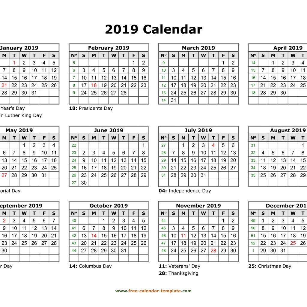 Calendar Year 2019 Federal Holidays With 99 2018 Printable Download Cute
