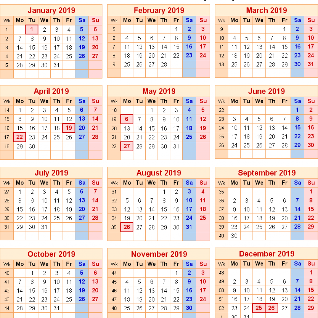 Calendar Year 2019 Federal Holidays With Free Printable London October 2018