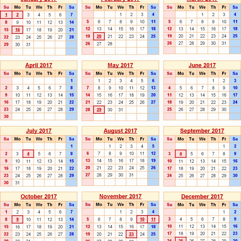 Calendar Year 2019 Federal Holidays With Opm Payroll 2018 2017
