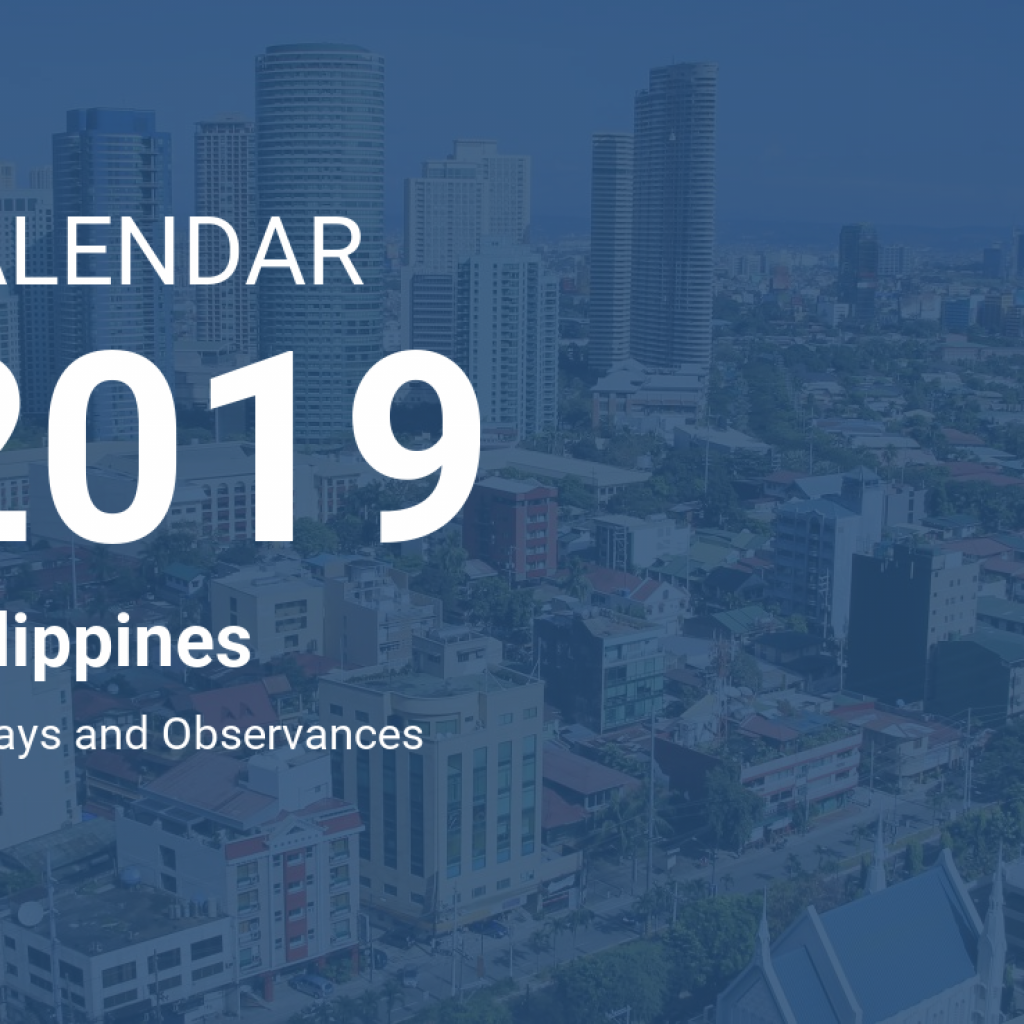 Calendar Year 2019 Philippines With
