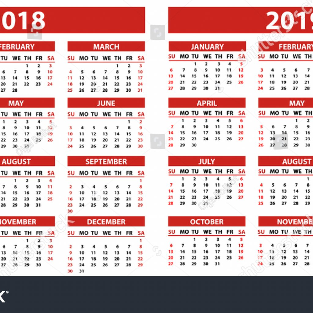 calendar-year-2019-philippines-with-2018-years-simple-style-stock-vector-royalty-free
