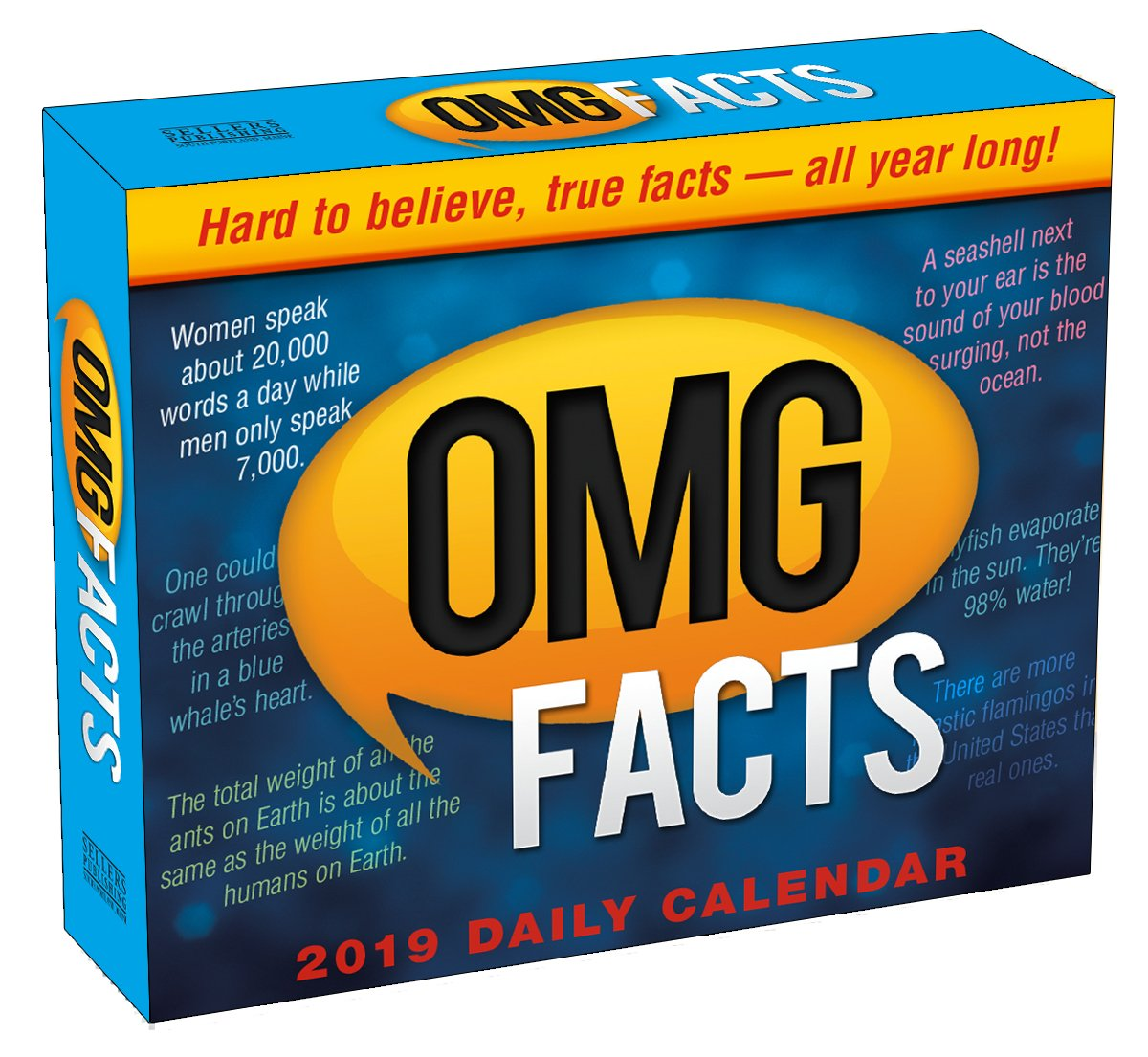 Calendar Year Same As 2019 With OMG Facts Boxed Daily By Sellers Publishing 6 X 5