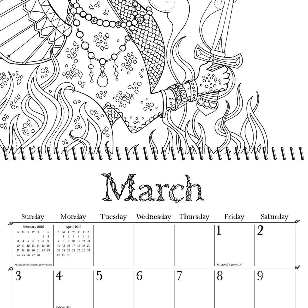 Calender 2019 Coloring With Ivy And The Inky Butterfly Wall Calendar A Magical