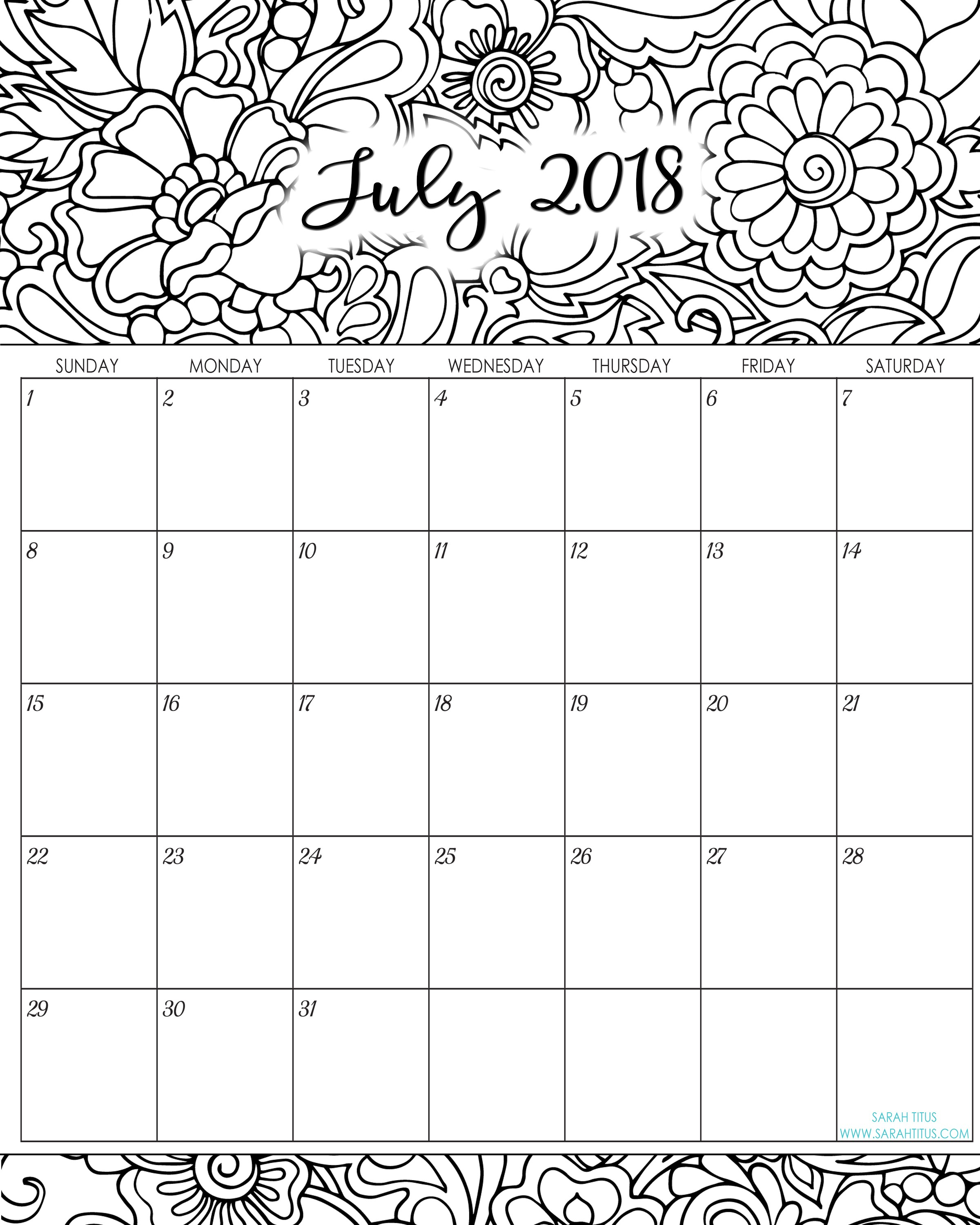 Calender 2019 Coloring With Monthly And Yearly Calendar Planner 2018 Part 31
