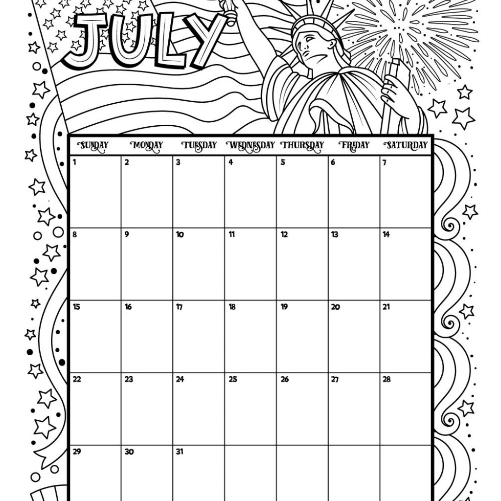 Calender 2019 Coloring With Printable Calendar For And 2018 Woo Jr Kids