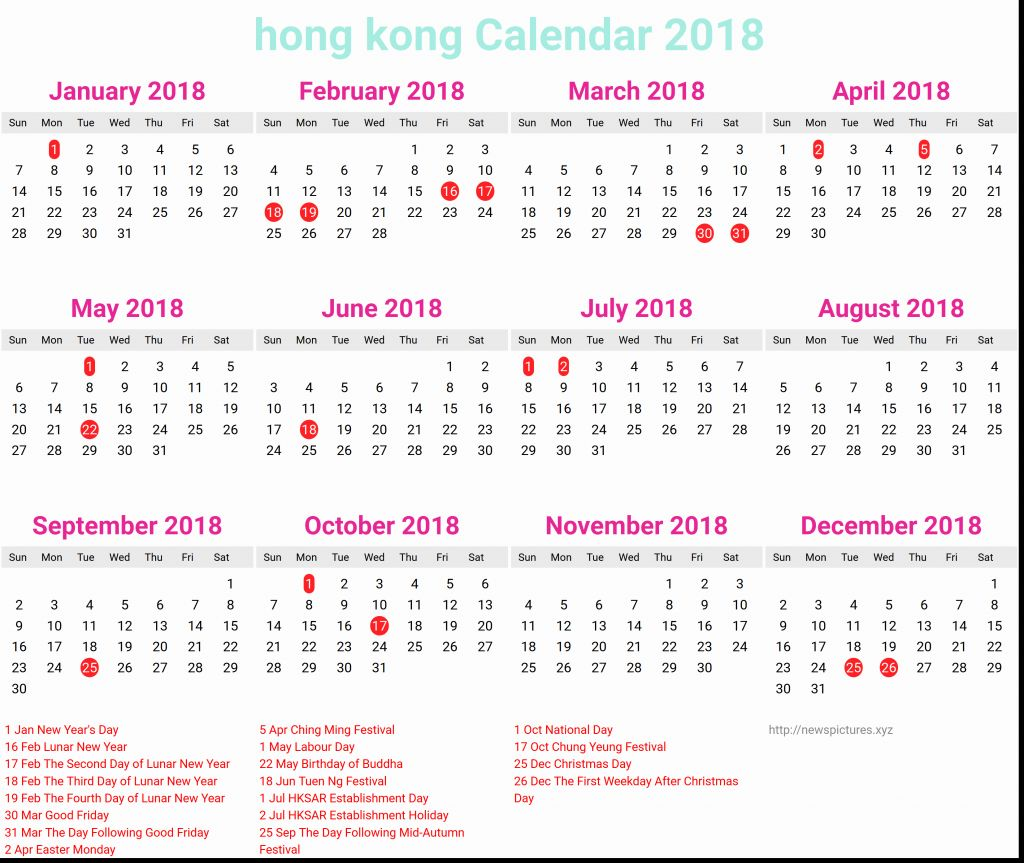 Chinese New Year 2019 Calendar Hong Kong With Elegant 37 Examples Hk Abohmza Com