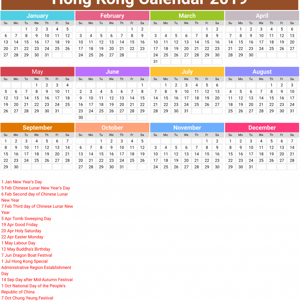 Chinese New Year 2019 Calendar Hong Kong With Lunar Mus E Des Impressionnismes