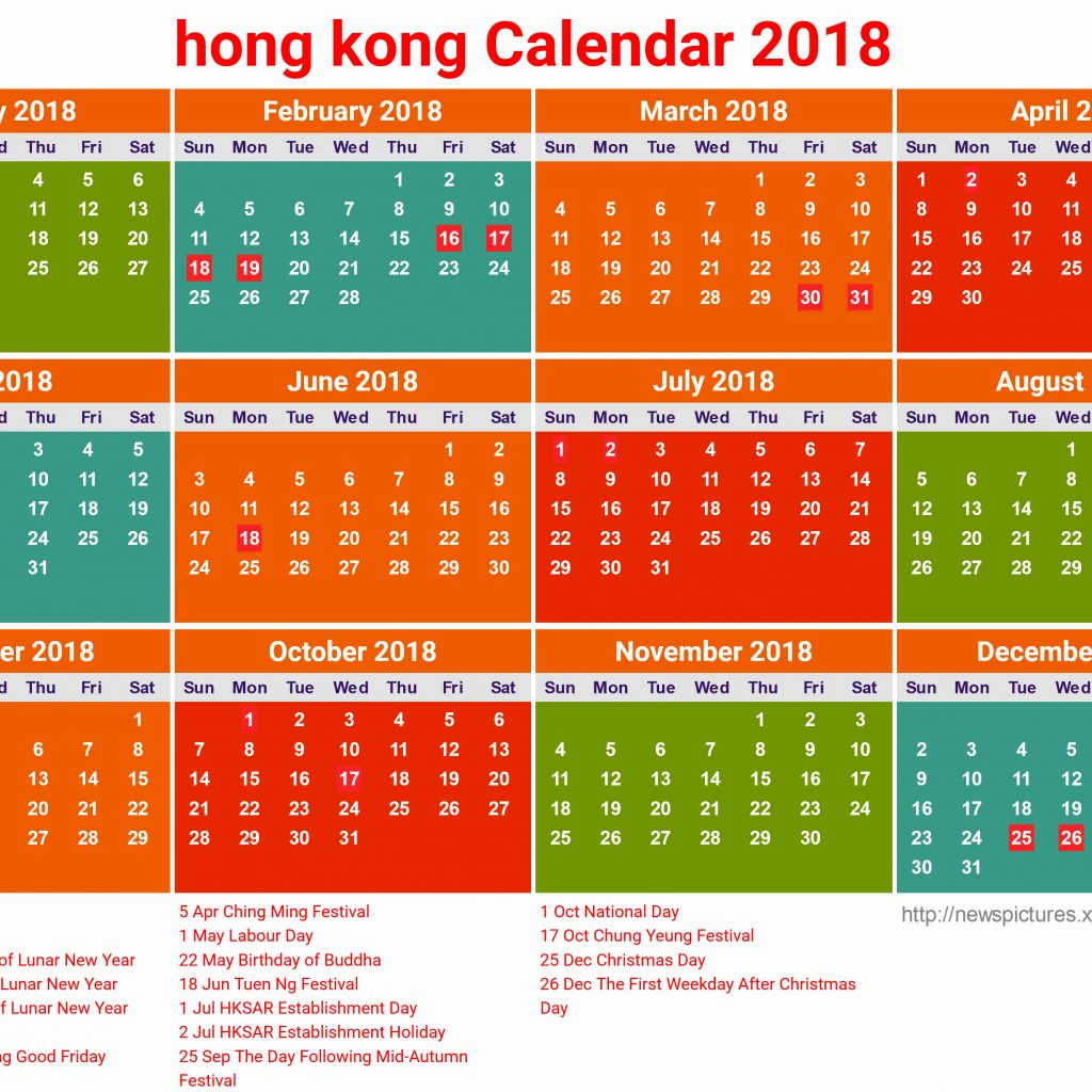 Chinese New Year 2019 Calendar Hong Kong With Unique 39 Sample Holidays Printcalendar