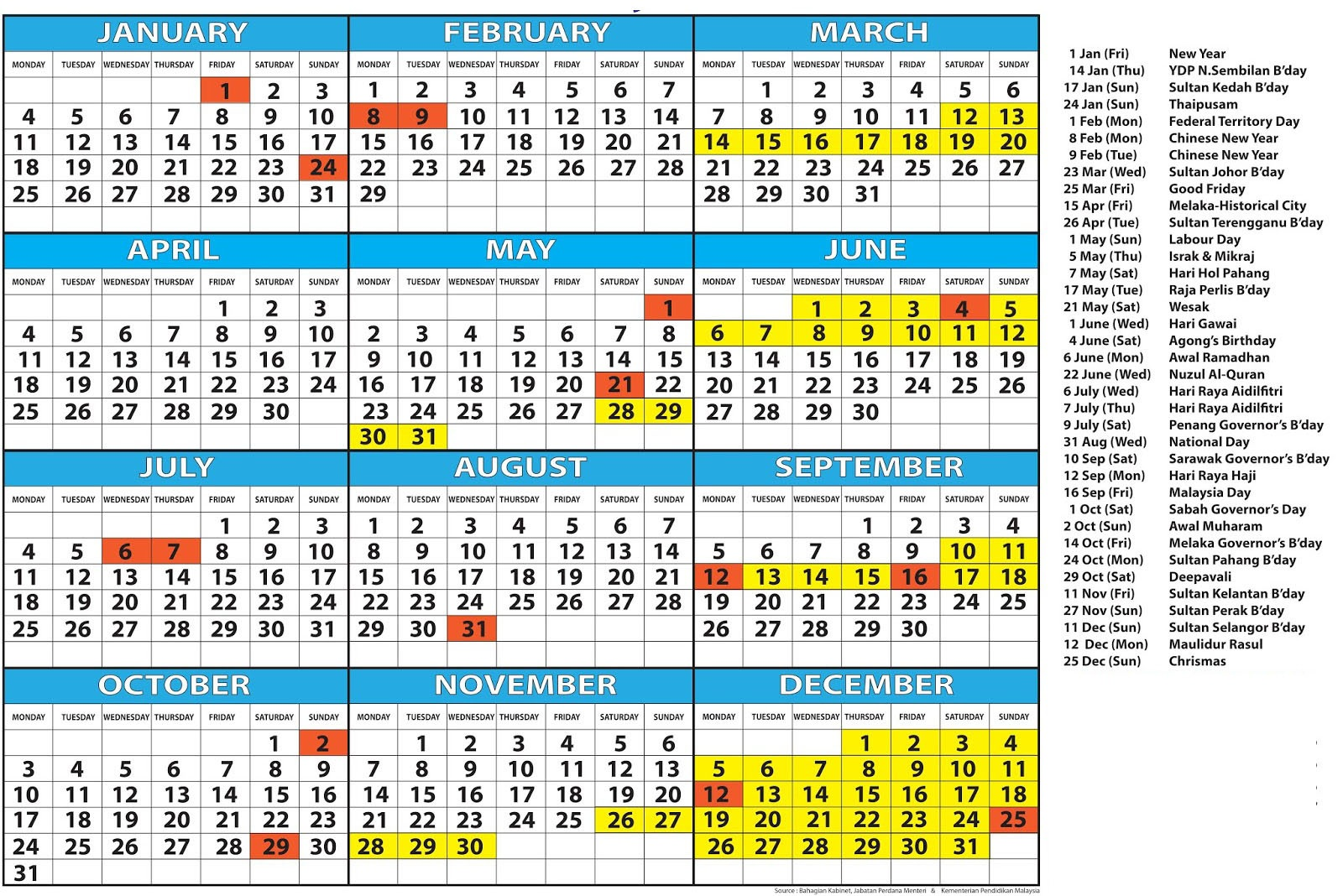 Chinese New Year 2019 Calendar Malaysia With Free School Holidays London Templates November 2018