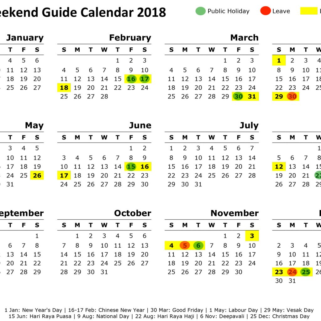 Chinese New Year 2019 Calendar Taiwan With Singapore Long Weekend Getaway Guide 2018 Cheat Sheet Maximise