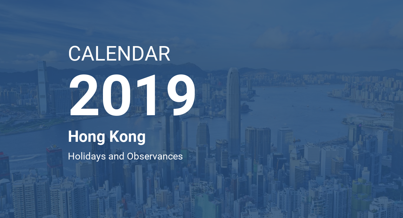 Chinese New Year 2019 Calendar With Hong Kong