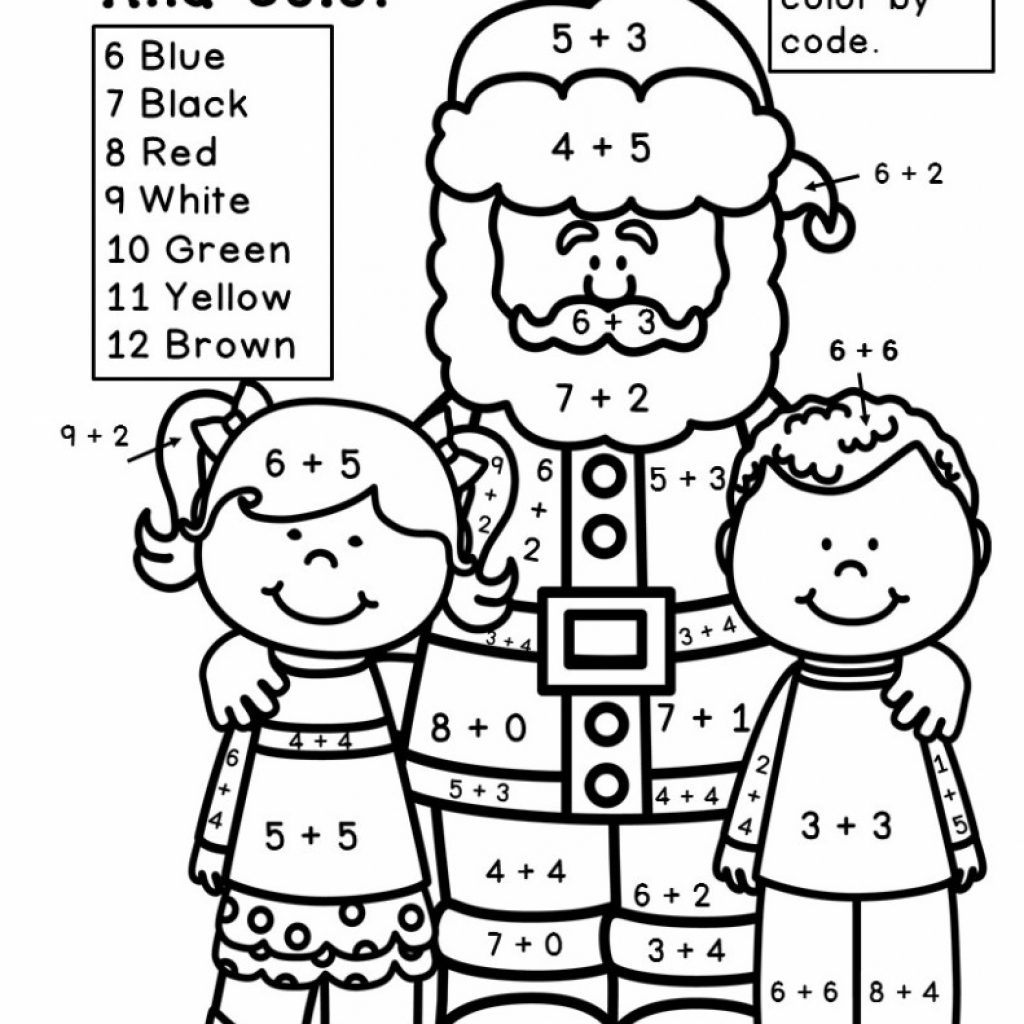 Christmas Addition Coloring Worksheets With Free Proga Info