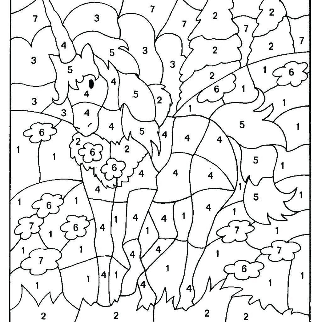 Christmas Addition Coloring Worksheets With Grade Math Color By Number Colour Free