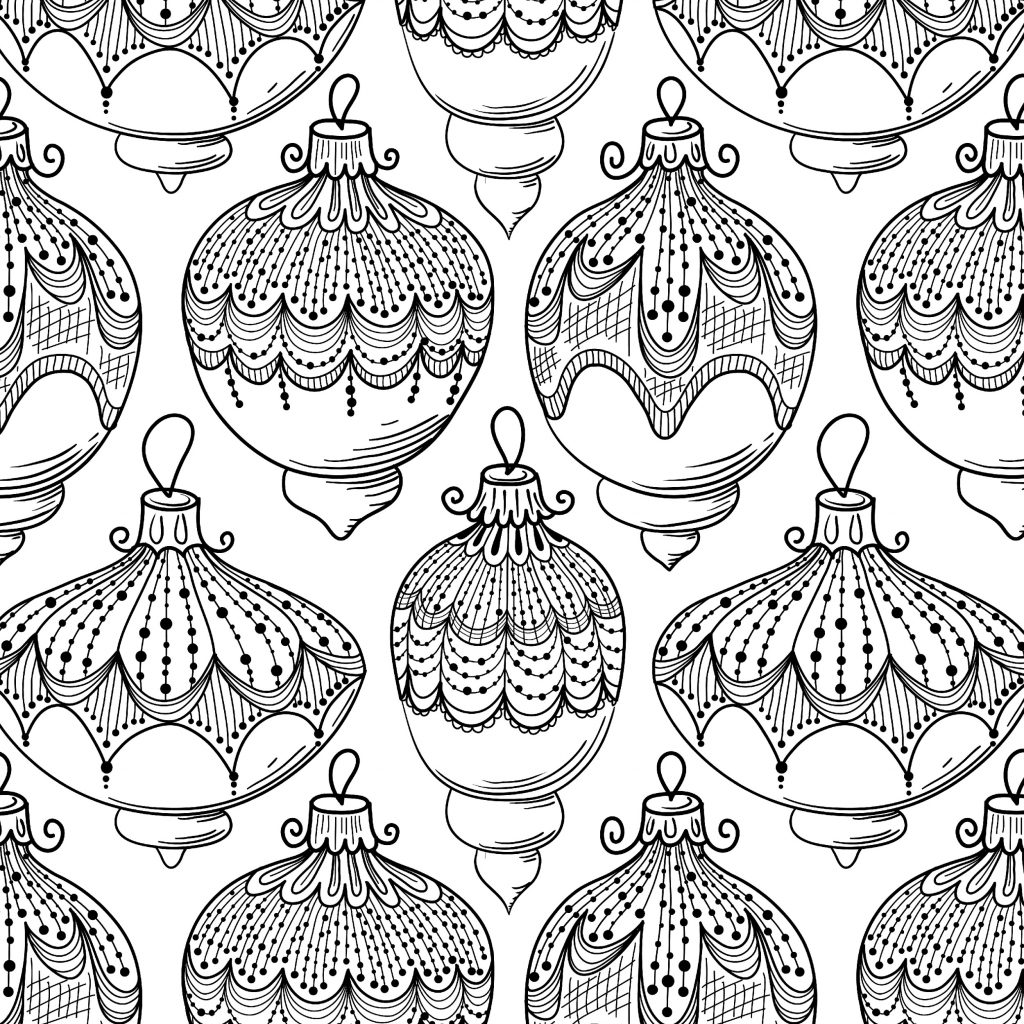 Christmas Adults Coloring Pages With Free Holiday For Color Kids 54308