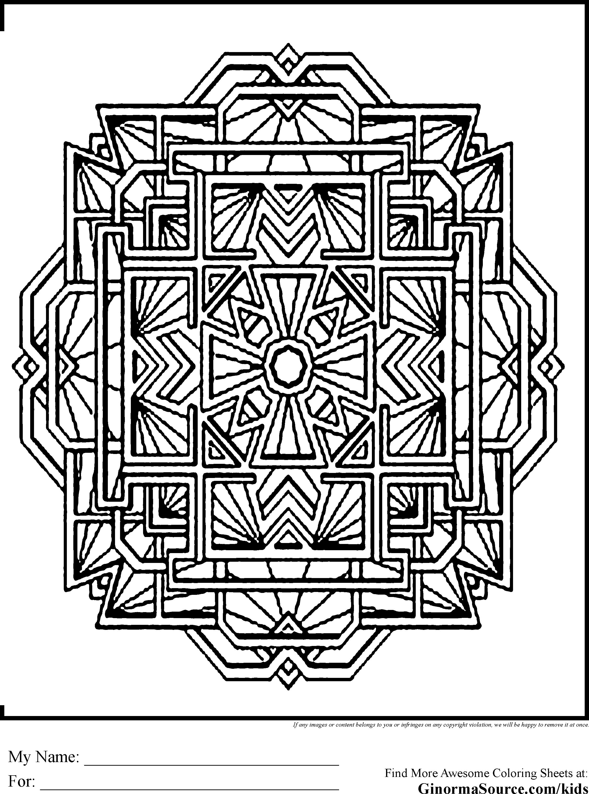 Christmas Advanced Coloring Pages With M And Mandale Tibet