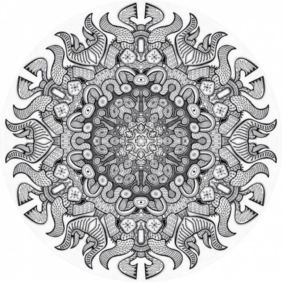 Christmas Advanced Coloring Pages With Mandala Printable Free