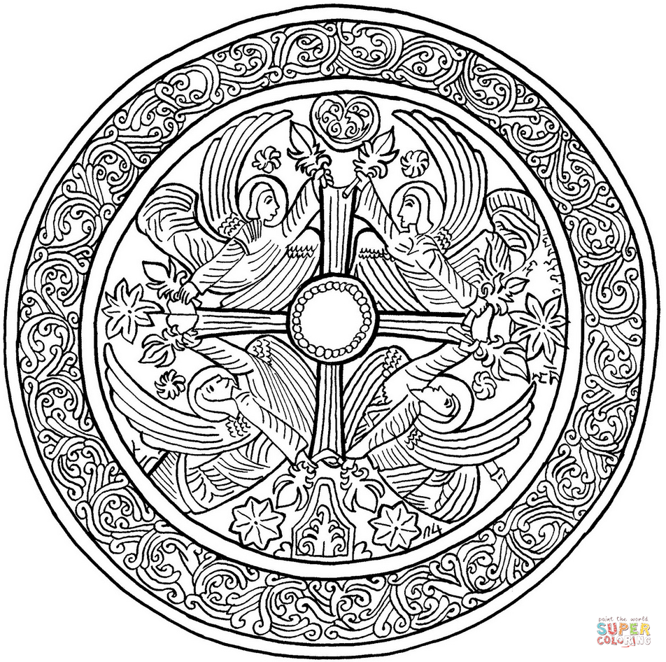 Christmas Advanced Coloring Pages With Mandalas Free