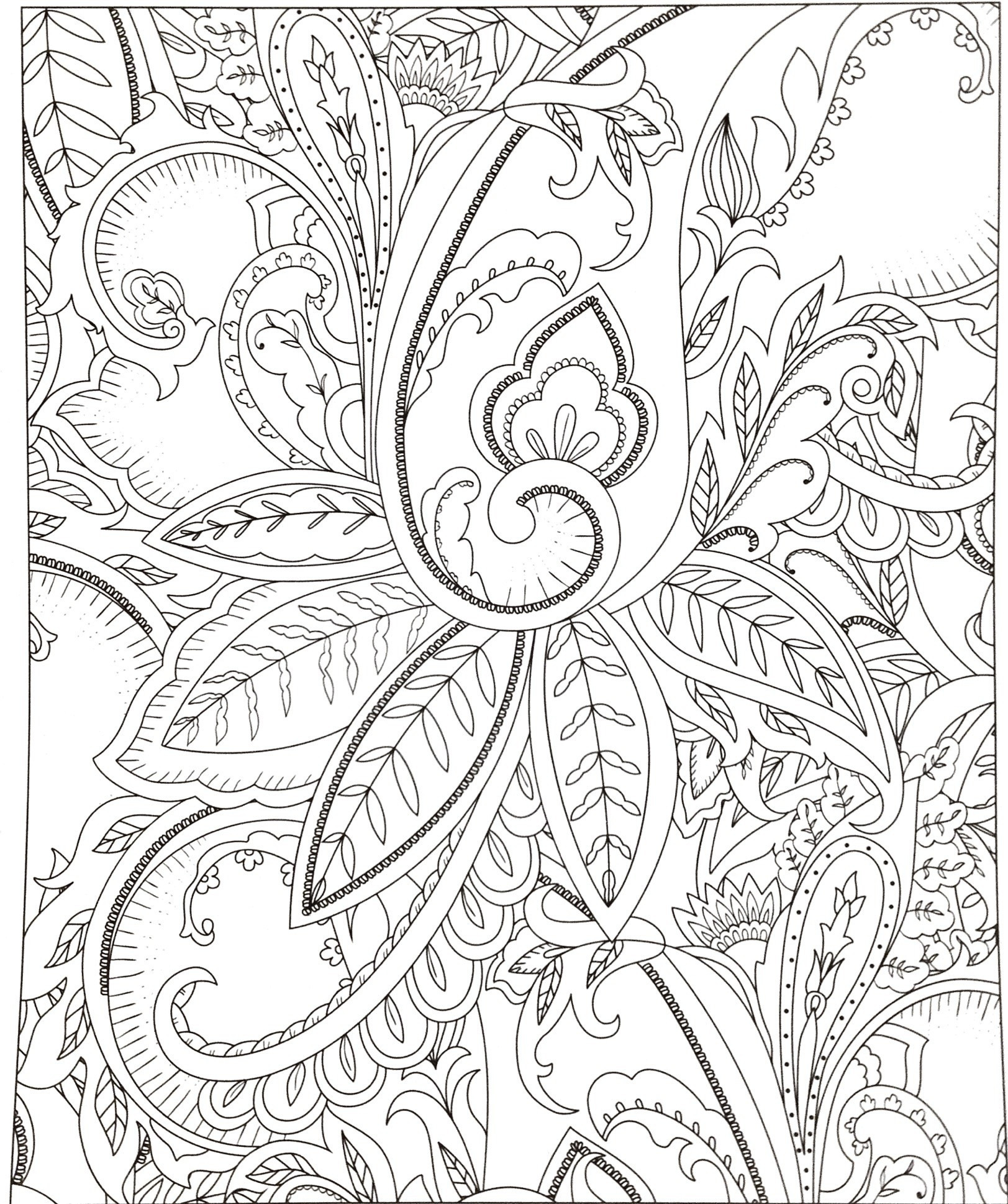 Christmas Advanced Coloring Pages With Tree Printable 30 Lovely