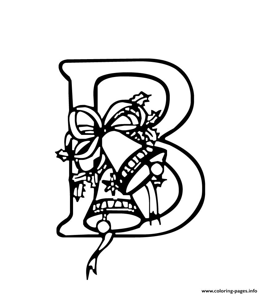 Christmas Alphabet Coloring Pages With S727a Printable