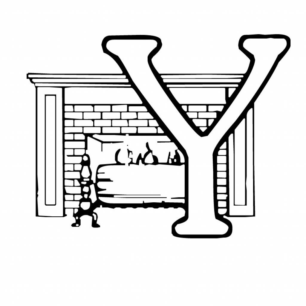 Christmas Alphabet Coloring Pages With Y Embroidery Pinterest Free