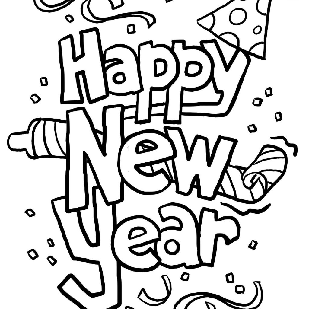 Christmas And New Year Coloring Pages With A Twist On S Eve Pinterest