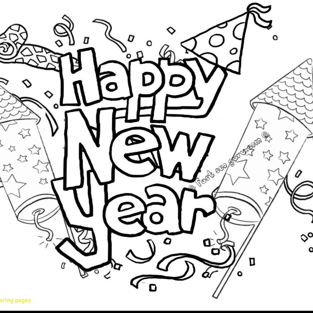 Christmas And New Year Coloring Pages With Free Printable Chinese Merry