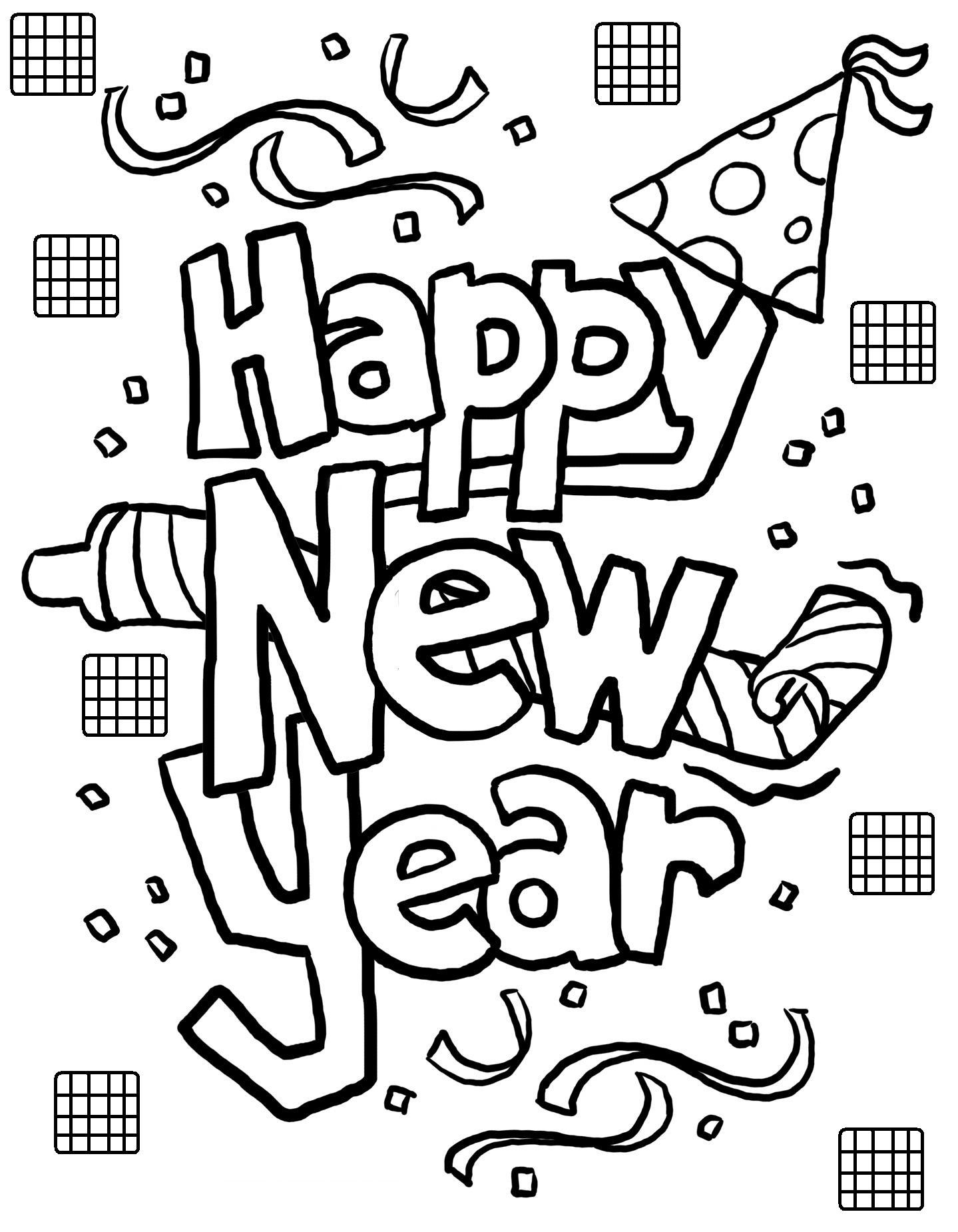 Christmas And New Year Coloring Pages With Free Printable Years For Kids