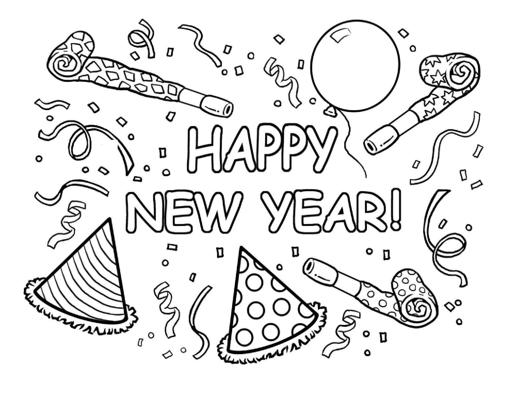 Christmas And New Year Coloring Pages With Happy Best For Kids