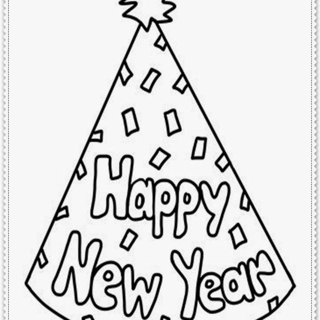 Christmas And New Year Coloring Pages With Years Printable Domitian Org Holidays