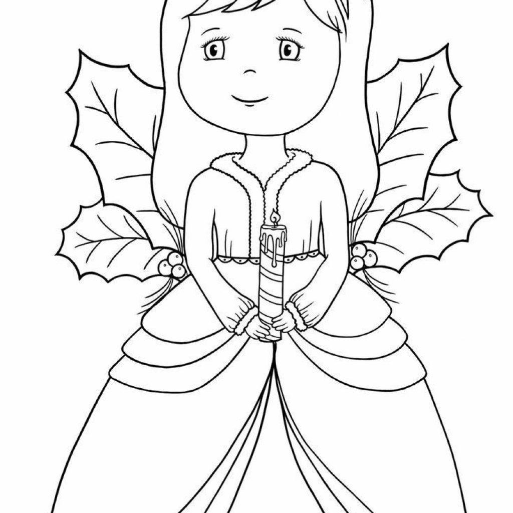Christmas Angel Coloring Pages Printable With Homepage
