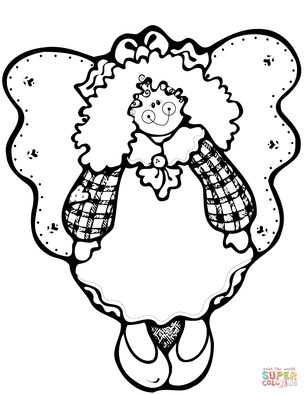 Christmas Angel Coloring Pages Printable With Page Free