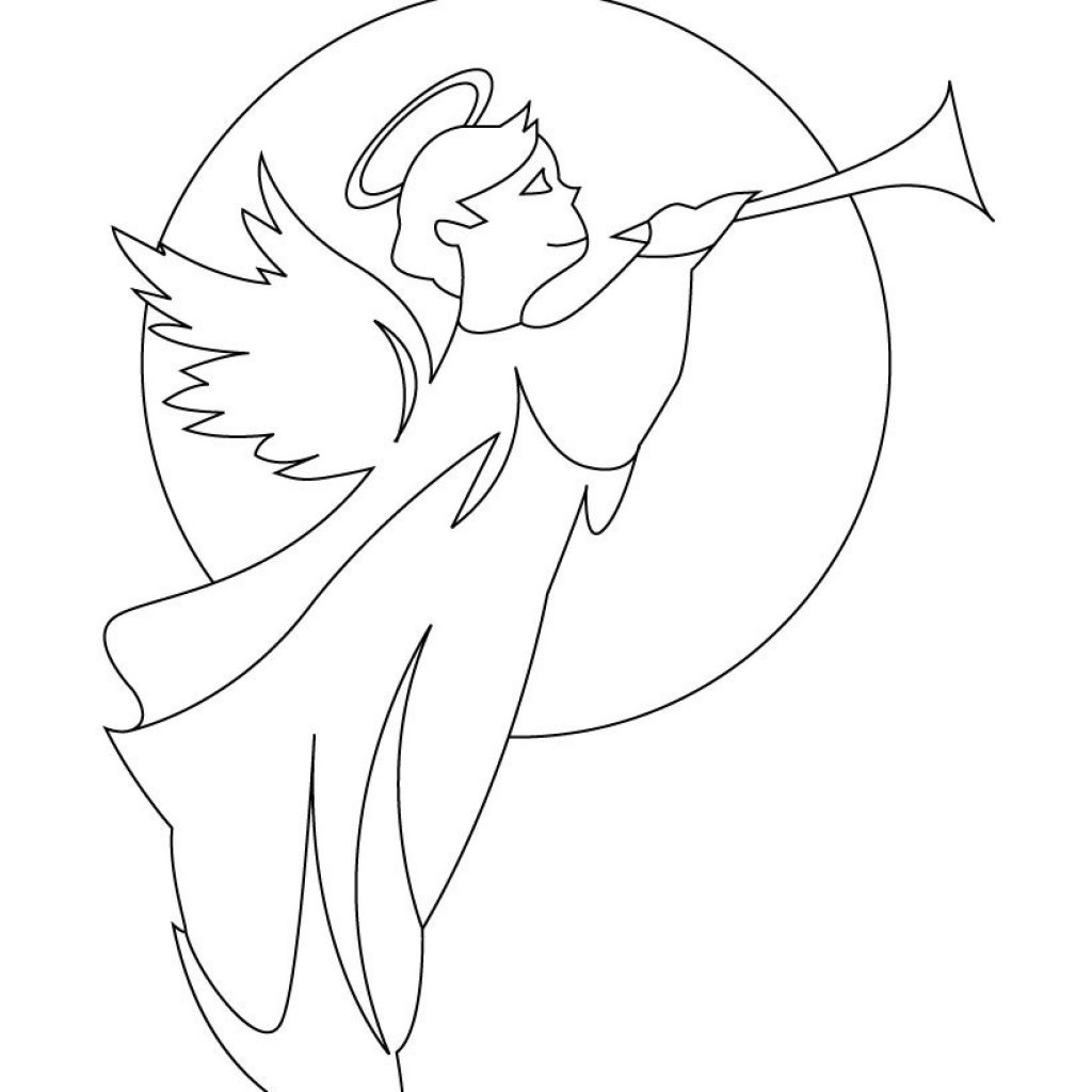 Christmas Angel Coloring Pages To Print With Angels 5 Futurama Me